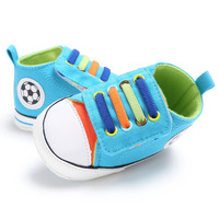 Canvas Non Slip Baby Shoes Soft Sole Football Pattern Baby First Walkers Newborn Infant Boys Sneakers