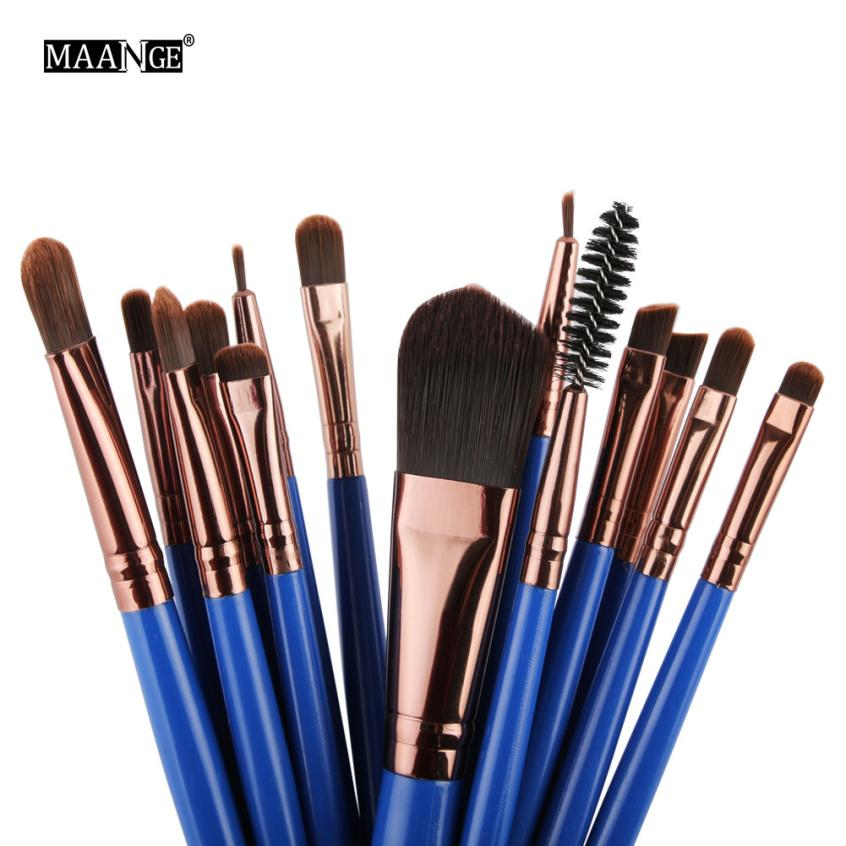 New Professional 15 PCS Makeup Brushes Set Tools Make-up Toiletry Kit Make Up Brush Set Case Cosmetic Foundation Brush 2017n29 тушь make up factory make up factory ma120lwhdr04