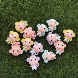 10pcs/lot kawaii flat back resinLittle monkey Daisy DIY resin cabochons accessories