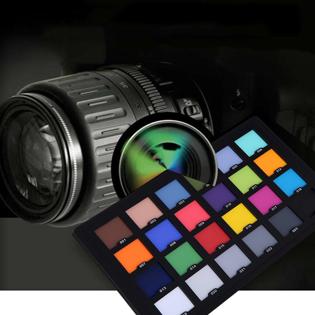 Andoer Professional 24 Color Card Test Balancing Checker Card Palette Board for Superior Digital Color Correction 4