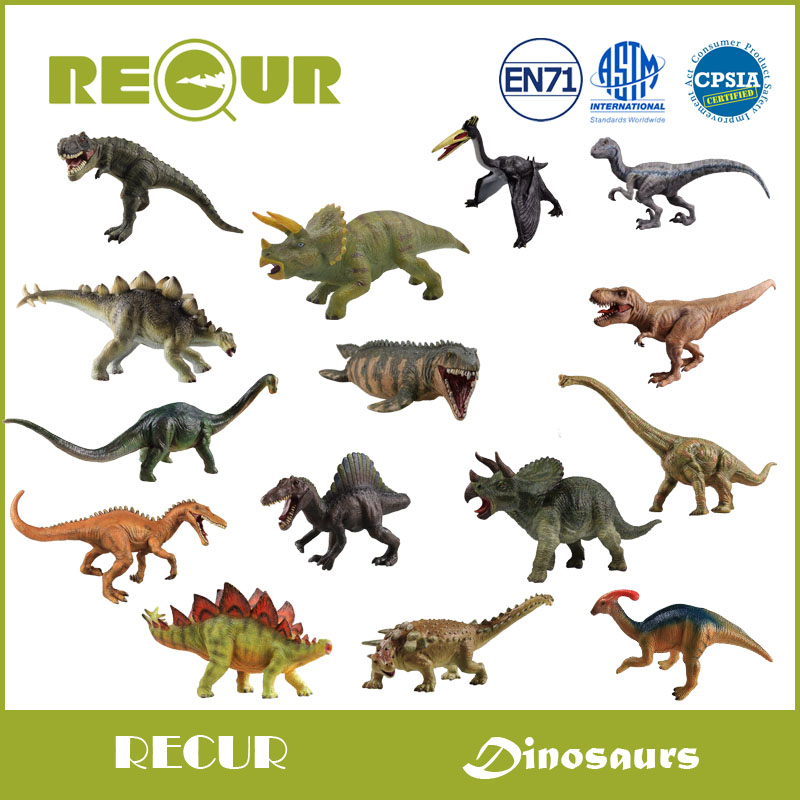 где купить Recur Original Design High Quality Jurassic Dinosaur Model Hand Painted PVC Animal Figures Soft Toys Gift Collection For Kids по лучшей цене