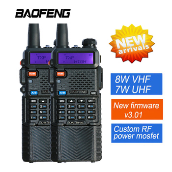 2X BaoFeng UV-5R Walkie Talkie UV-8HX Dual Band UV5R Radio CB Transceiver 128CH VOX Flashlight Dual Display FM for Hunting Radio