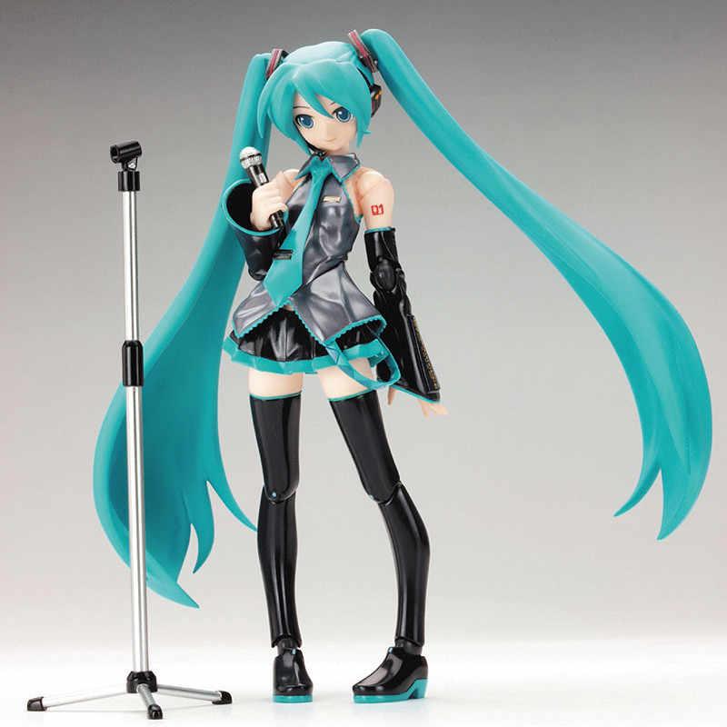 Surwish 15cm mobile Anime figurine Hatsune Miku modèle jouet poupée jouet-bleu