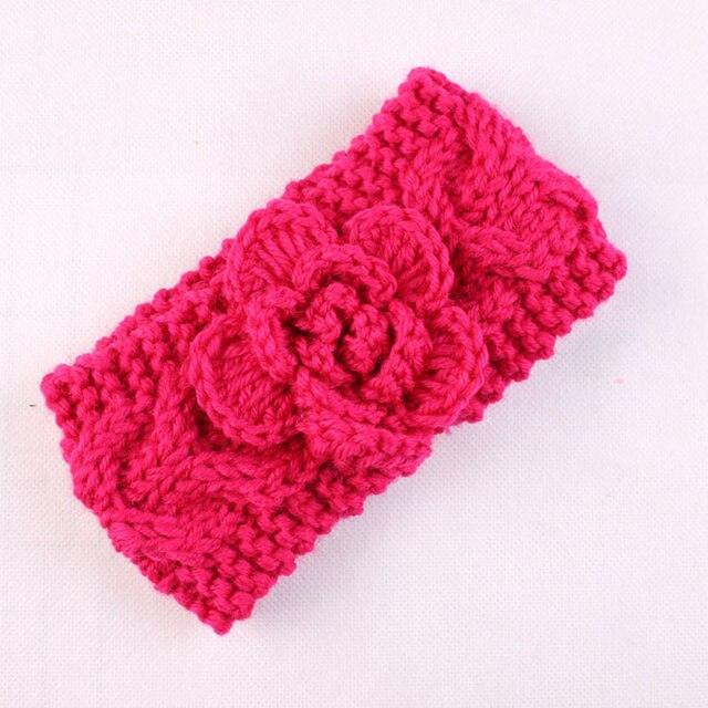 Online Shop Knit Headband Girls Crochet Headband with Flower for ...