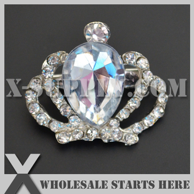 Dhl Free Shipping Crown Rhinestone Embellishments Button With Shank