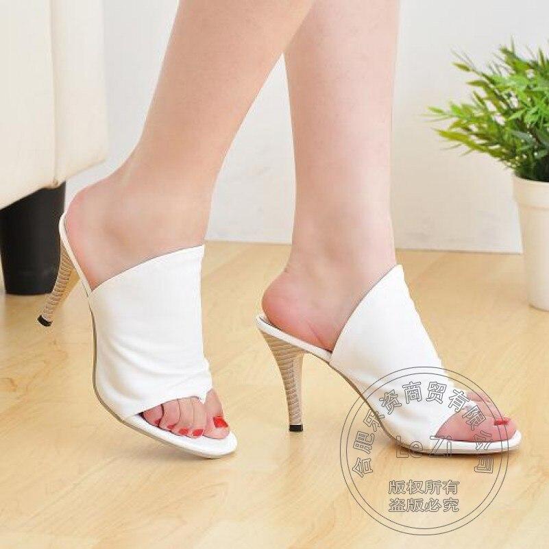Trendy Sexy Pumps font b Women b font Stilettos Appealing Thin Cheap High Heel Sandals Mature