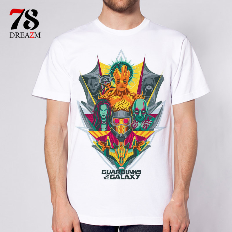 Guardians of the Galaxy 2 Anime printing 2017 new clothing short sleeve t shirt men top quality t shirts male print t shirt
