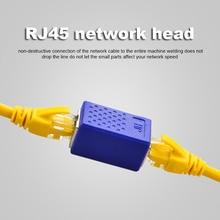 RJ45 Konektörü Cat7/6/5e Ethernet Kablosu Adaptörü 8P8C rj45 Ağ Genişletici Uzatma Ethernet Kablosu Dişi kadın