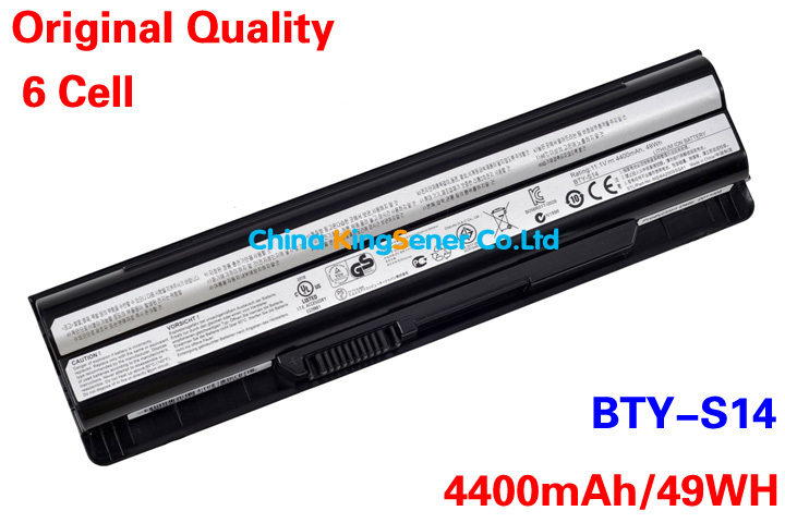 ФОТО 49WH Korea Cell Original New Battery BTY-S14 BTY-S15 CR650 CX650 FR400 FR600 FR610 FR620 FR700 FX400 GE70 GE60 FX420 FX603 FX610