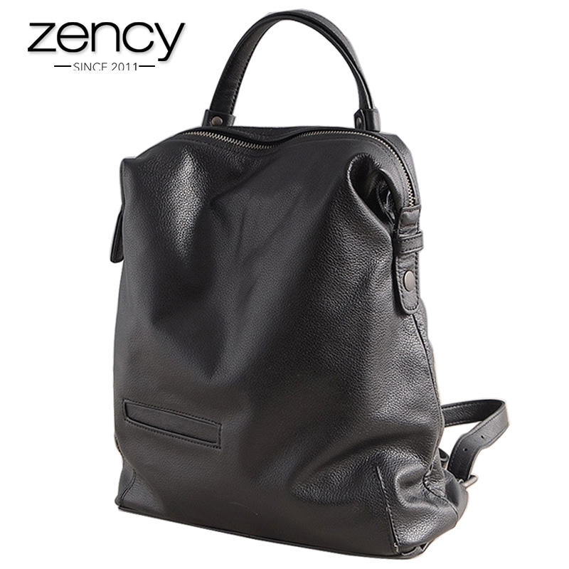 2018 Spring New Genuine Leather backpack female Women's Fashion Shoulder Bag Ladies Large Capacity Casual Packs Woman mochilas