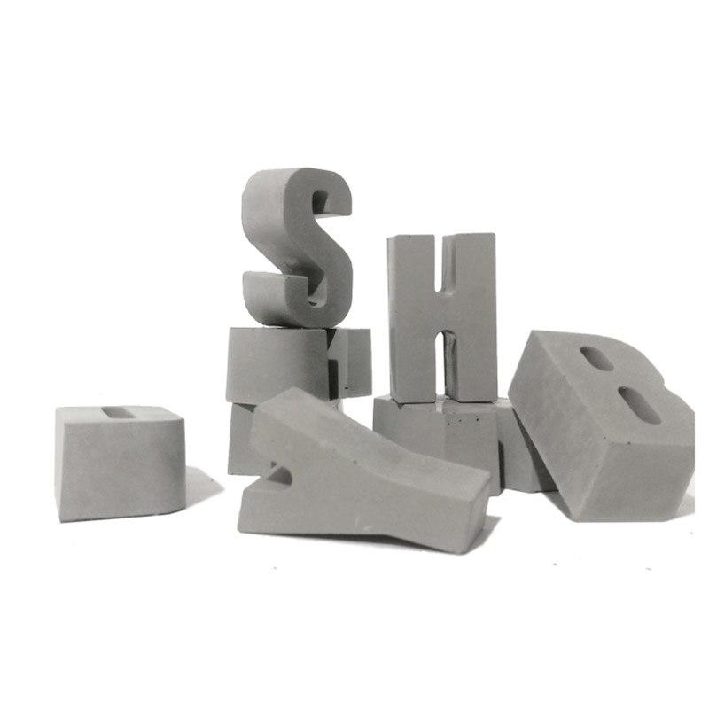 concrete door number silicone mold Cement alphanumeric gate number business hours card concrete ornaments Decoration