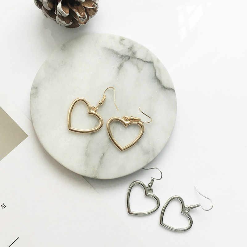 Fashion Anting untuk Wanita 2020 Laporan Ladies Fashion Alloy Anting-Anting Telinga Cincin Kombinasi Sederhana Satu Kata Bentuk Anting-Anting