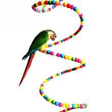 Разноцветные деревянные Лестничные Качели Упражнение Радуга попугай Parakeet лестница хомяк игрушечный бисер Попугай Птицы игрушки клетка украшение