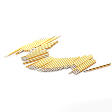 цена на 100PCS P75-J1 Nickel Plated Round Needle Head Spring Test Probe Dia 0.74mm Pogo Pin For Testing Power Contact Gold Thimble Tool