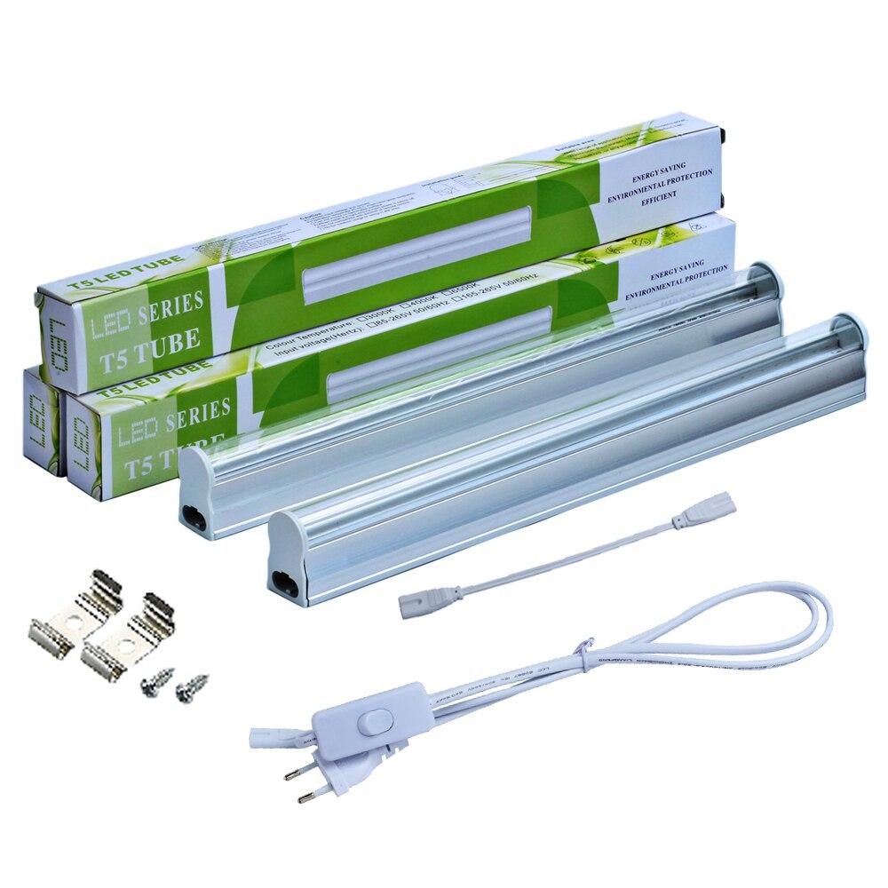 RAYWAY 2 pz/set T5 5 w LED Coltiva La Luce Del Tubo 660nm red & 455nm blu 2835smd Interruttore ha condotto Crescere Bar lampada per piantine di AC85-265V