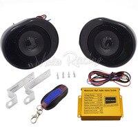 Schwarz Motorrad Lenker Mp3-player Lautsprecher Audio System Motorrad Roller Alarm Lautsprecher Mit Fernbedienung FM Radio USB
