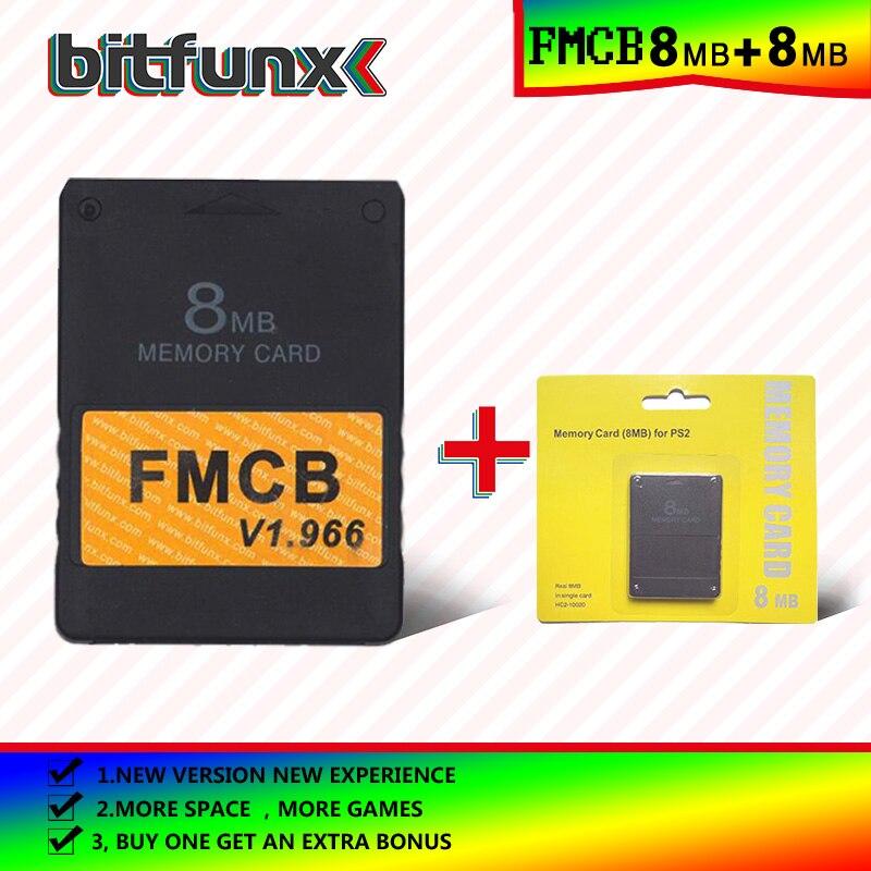 Bitfunx Free McBoot Memory Card (FMCB)8MB  V 1.966 (new Version &new Function)+8/16/32/128/MB Memory Card Pack