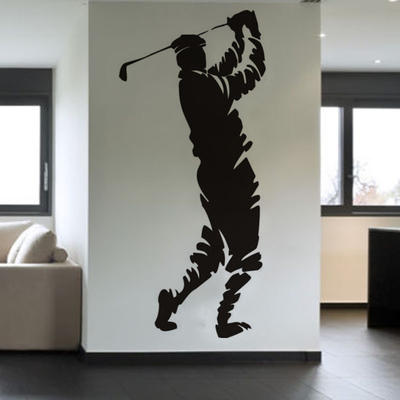 American Style Living Room Golfer Swing Wall Sticker Living Room PVC Self  Adhesive Home Decor AccessoriesSwing Living Room Promotion Shop for Promotional Swing Living Room  . Living Room Swing. Home Design Ideas