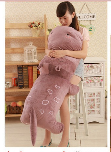 ФОТО huge  lovely hippo toy plush doll cartoon hippo doll gift toy about 140cm purple