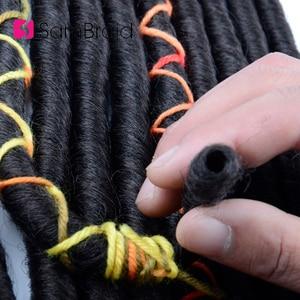Sambraid 14 Inch 12 strand/pack Faux Locs Crochet Hair Synthetic Hair Extensions Soft Dreads Crochet Hair For Women