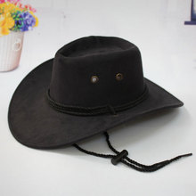 Cowboy Hats for Women with The Fields Sombreros Mujer Invierno Western American Mens Sombrero Vaquero Faux Suede Triple Strings