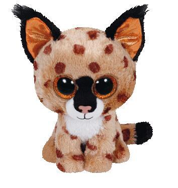 TY 1PC 15CM BIG EYES BUCKWHEAT BROWN LYNX Plush Toys Stuffed Animals Kids Toys