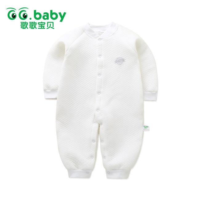 Macacão de inverno Bebê recém-nascido 2017 Do Bebê Menina Manga Longa Pijamas Roupas de Bebê Macacão Infantil Roupa Da Criança Roupa Do Bebê Wram