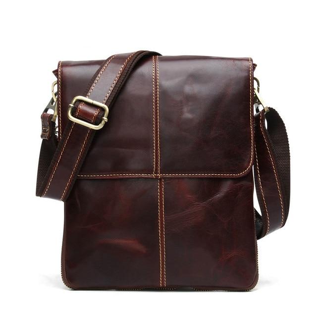 85bda6a85c 100% Genuine Leather Men Bags Business Fashion Men Messenger Bag Brand  Designer Crossbody Men s Shoulder