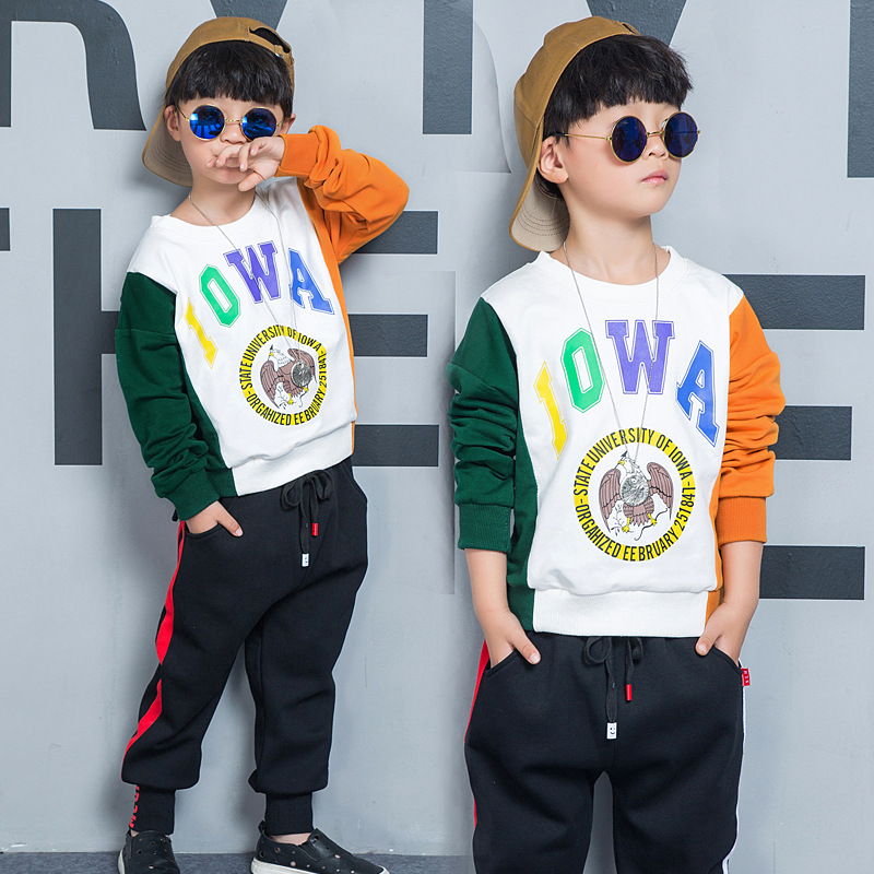 Spring Autumn Cartoon Boys Clothing Sets Kids Clothing Sets Long Sleeve T-shirt Pants Outfits Suit Children Clothes Set 2 Piece kids clothes sets wholesale spring and autumn boys sports leisure suit t shirt hoodie long pants free shipping in stock