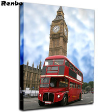 Diamond Painting London City Big ben 5D DIY,Red bus,Diamond Embroidery,City street,Cross Stitch,Rhinestone Mosaic Sale(China)