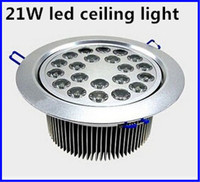 Saving Energy And High Power 21W LED Ceiling Lamp Recessed Downlight Roof Down Bulb Spot Light