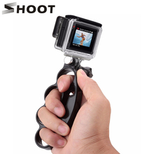 SHOOT Handheld Knuckle Finger Grip Mount Selfie Accessory for GoPro Hero 6 7 5 4 3 Xiaomi Yi 4K Sjcam SOOCOO Eken H9 Action Cam soocoo sports action camera accessories kit for soocoo camera gopro hero sjcam xiaomi yi eken chest clamp hand mount large bag
