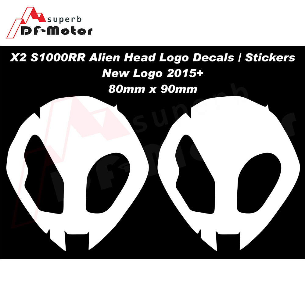 S1000RR Alien Head Logo Fairing Upper Fairing Decals / Stickers Fit For BMW HP4 (2 STICKERS) NEW Logo 2015 +