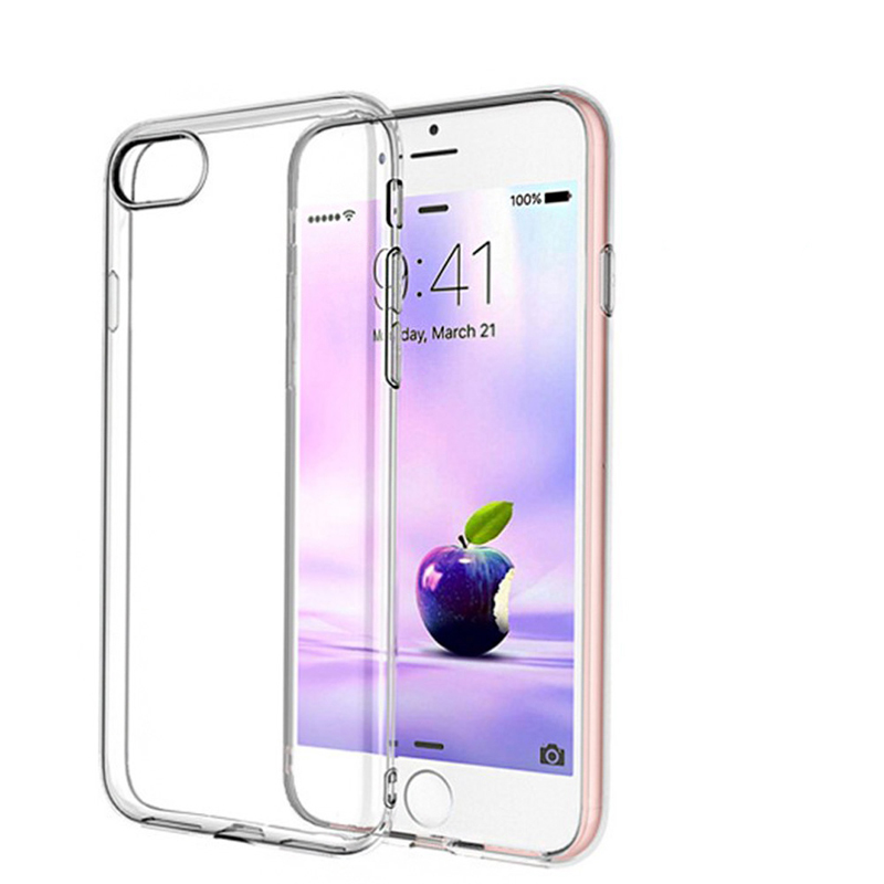 For iPhone 7 Plus 0.3mm Ultra-thin Slim Silicone Soft Clear TPU Phone Case Cover