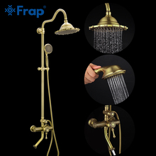FRAP shower faucet bronze antique style bathroom mixer rainfall set waterfall bath system tapware