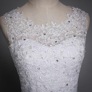 Image 5 - Fansmile 2020 Robe De Mariage prenses beyaz balo gelinlik Vestido De Noiva artı boyutu özel gelinlikler FSM 023F
