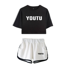 d00cb5b1 LUCKYFRIDAYF 2018 Kpop SHAWN MENDES FASHION Summer Shorts And T-shirts Women  Two Piece Sets