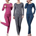 Good Quality Women Thermal Underwear Long Johns Slim Sleepwear Set Female Winter Warm Clothing Top Pants M-XL