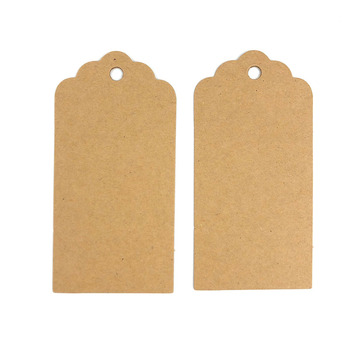 100pcs/lot Kraft Paper Gift Tags Simple DIY Blank Price Tag Vintage Wedding Favor Hang
