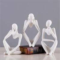 Abstract Thinkers Sculpture ,Figure Resin Statuette Creative Figurine Ornaments Modern Home Decoration Accessories Wedding Gifts