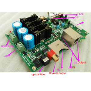 Image 2 - Bluetooth 4.2 digital player with ES9018K2M decoding Fiber coaxial output support SD USB with LED