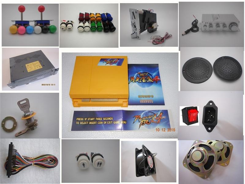 DIY Arcade Parts Bundles Kit mit Joystick-Drucktaste Mikroschalter Player-Taste 645 in 1 PCB-Hauptplatine zum Aufbau eines Arcade-Spiels