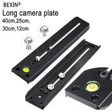лучшая цена 250mm or 400mm  long rail plate Multi-purpose Long Quick Release Extender Rail Sliding Plate for Manfrotto Camera Tripod
