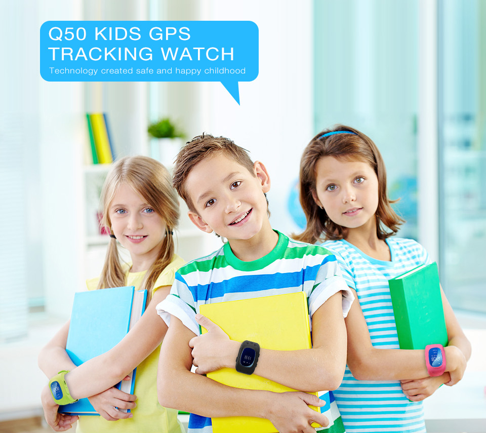 HTB12BCGSVXXXXXeXpXXq6xXFXXXJ - Q50 Child GPS Smart baby GPS watch Phone Tracker Kids SOS GSM Smartwatch For iphone Android Children's watches watch clock