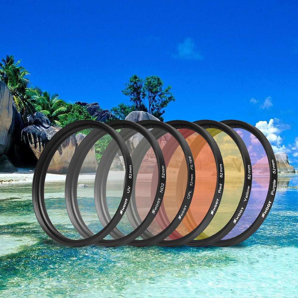 SHOOT In mm UV Lens Filter Set Protection Lens Cover With Adapter