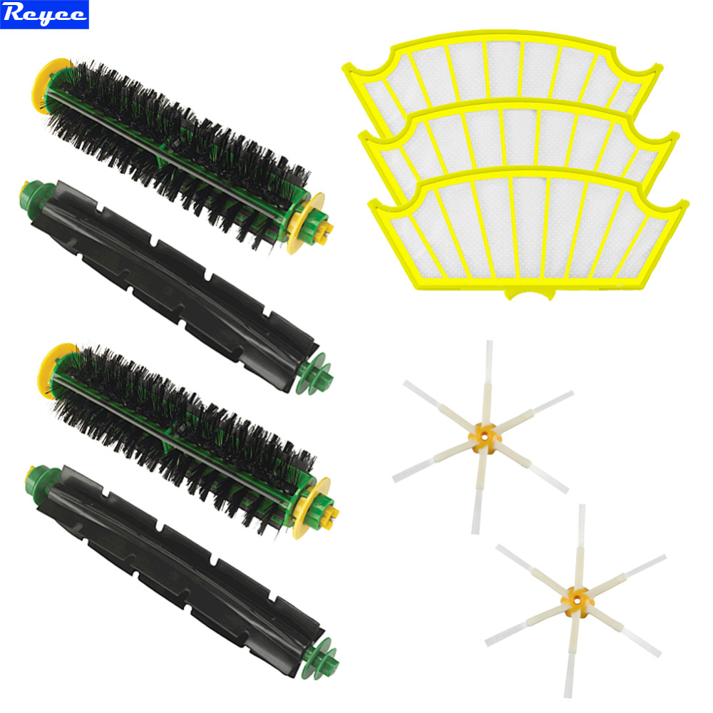 New Side Brush Filters 6 Armed pack for iRobot Roomba 500 Series 530 550 560 580 510 Set kit in on pack free shipping ntnt free shipping side brush filters 6 armed mini kit for irobot roomba 500 series