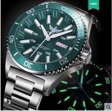 Tritium Reloj Automático T100 Yelang para hombre, resistente al agua, 300m, movimiento superior japonés, 24 joyas, Dial giratorio, fecha, día, natación, buzo