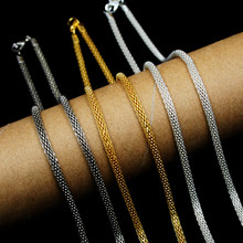2pcs/lot New Promotion 42CM Link Necklace Chains With Clasp 3 Colors Available for Pendants PS-FLB(China)