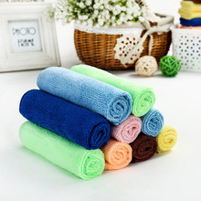 1PC 30x30cm Kitchen Fine Microfiber Towel Cleaning Cloth Car Auto Wash Dry Clean Polish Cloth for Kitchen Dirt Cleaning OK 0609