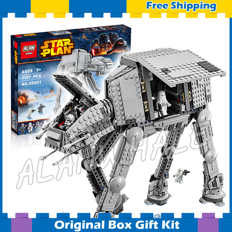 ФОТО 1157pcs Star Wars Universe New 05051 AT-AT DIY Model Building Blocks Toys Boys Gifts Compatible with Lego